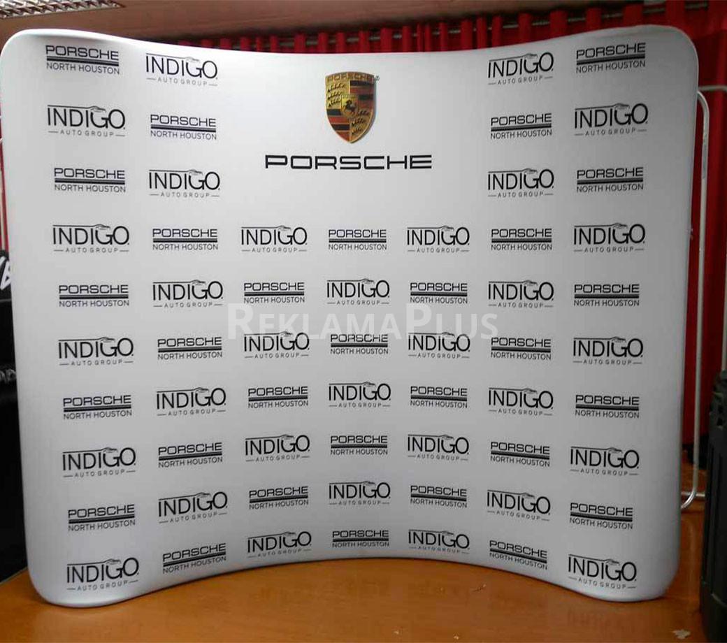 Фотозона с логотипом для выставки